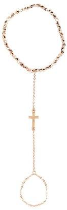 Pink Mascara Cross Finger Chain Bracelet