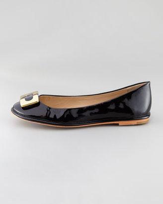 Diane von Furstenberg Brooke Ornamented-Toe Ballerina Flat