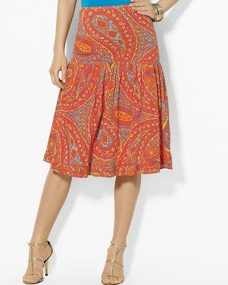 Lauren Ralph Lauren Two Tiered Cotton Skirt