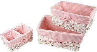 Babies 'R' Us Babies R Us 3-Piece Basket Set - White