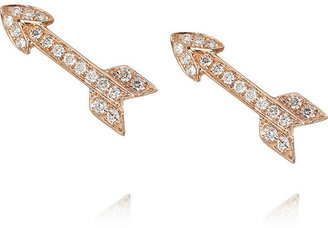 Anita Ko Arrow 18-karat rose gold diamond earrings