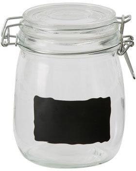 Australian House & Garden Glass Jar with Chalk Board S