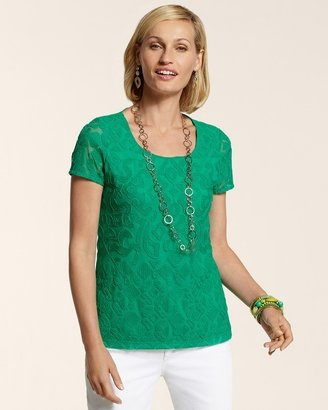 Chico's Textured Tilly Top