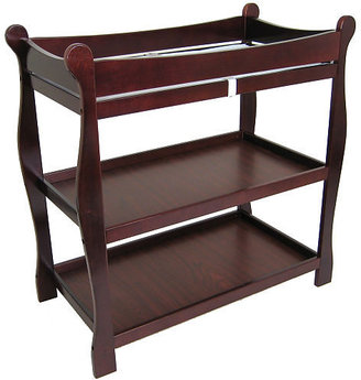 Badger Basket Company Sleigh Changing Table - Cherry