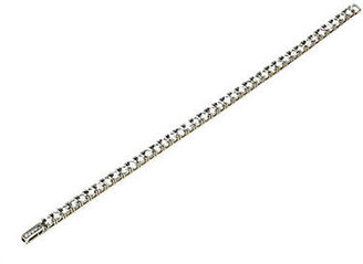 Crislu Platinum-Finished Cubic Zirconia Tennis Bracelet