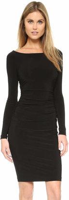 Norma Kamali Kamali Kulture Long Sleeve Dress with Shirred Waist $96 thestylecure.com