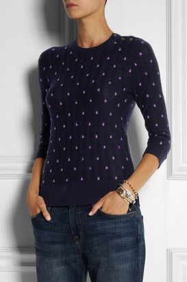 J.Crew Embroidered cashmere sweater
