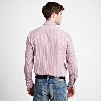 Thomas Pink Shirley Stripe Shirt - Button Cuff