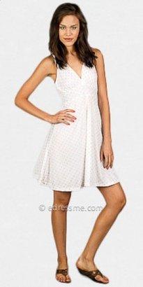 eDressMe White Glitter Dot Dresses