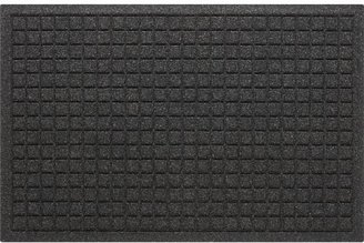"""Crate & Barrel Thirsty Squares® Charcoal 22""""x34"""" Mat"""