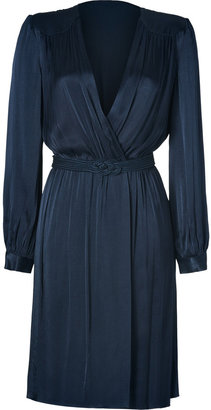 L'Agence LAgence Navy Wrap Dress