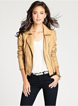 GUESS Carly Faux-Leather Jacket