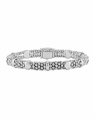 Lagos 6mm Kinder Sterling Silver Bracelet $195 thestylecure.com
