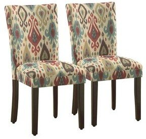 HomePop Parson Deluxe Multi-color Ikat Dining Chairs