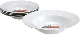 "Crate & Barrel 5-Piece Tomate 11.75""-13.75"" Pasta Bowl Set"