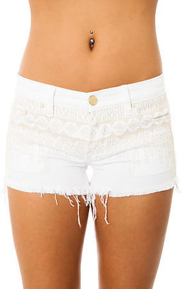 Blank NYC The Embroidered Denim Cutoff Short in Hock It