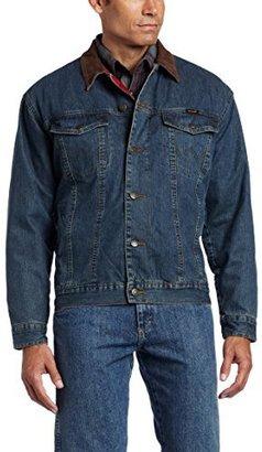 Wrangler Men's Rustic Blanket Lined Denim Jacket