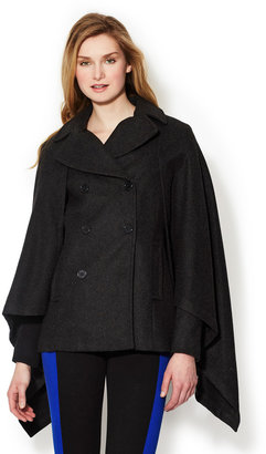 BCBGMAXAZRIA Double Breasted Wool Cape Coat