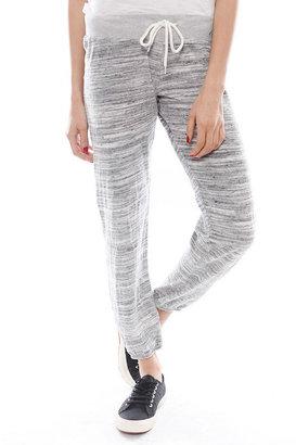 Monrow Cosmic Velour Vintage Sweatpants in Heather Grey