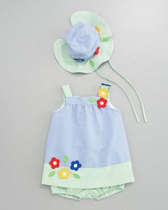 Florence Eiseman Spring Mix Dress & Bloomers Set, Sizes 3-9 Months