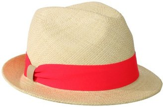 Hat Attack Women's Short Brim Panama Fedora Hat