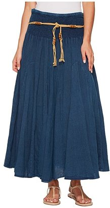 Scully Cantina Gar-Ye Skirt w/ Belt (Dark Blue) Women's Skirt