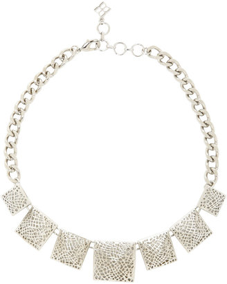 BCBGMAXAZRIA Filigree Pyramid-Stud Necklace