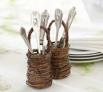 Pottery Barn Mini Twig Flatware Basket