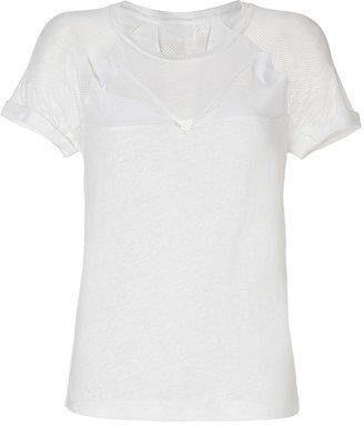 Maje Linen/Silk Top in Ecru