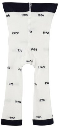 Tinycottons Off-White and Navy Years Leggings