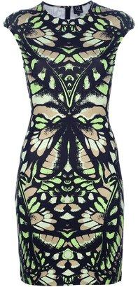 McQ by Alexander McQueen 'Interlock' butterfly camouflage dress