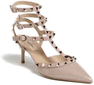 Valentino Rockstud Strappy Pointed Toe Pump