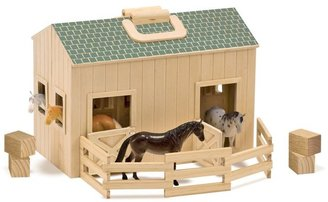 Melissa & Doug Fold & Go Mini Stable