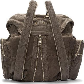 Alexander Wang Mink Grey Matte Leather Marti Backpack