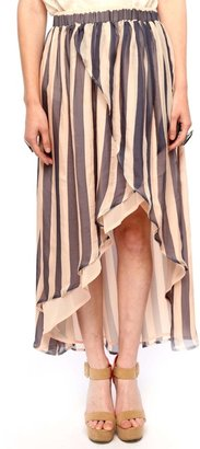 Funktional Striped Draped Skirt
