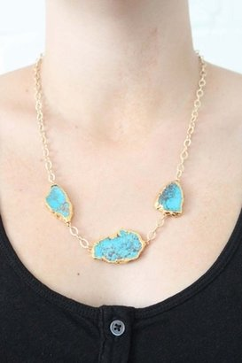 Heather Gardner 24KT Gold-Edged Turquoise Signature Necklace