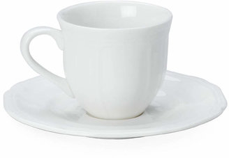 Mikasa Dinnerware, Antique White Espresso Cup and Saucer