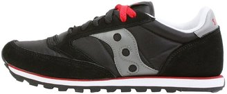 Saucony Men's Jazz Low Pro Classic Retro Sneaker Black/Silver 7 M US