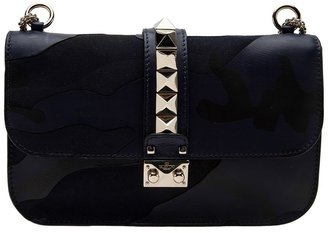 Valentino Garavani 'Rockstud' camouflage flap bag