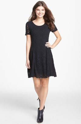 Rubbish 'Humble' Lace Fit & Flare Dress (Juniors)