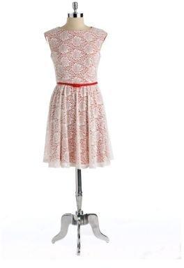 Maggy London Floral Lace A-Line Dress
