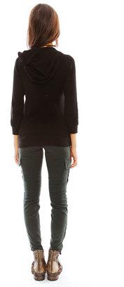 Splendid Thermal Hoodie in Black