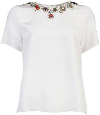 Jason Wu Jeweled neck t-shirt