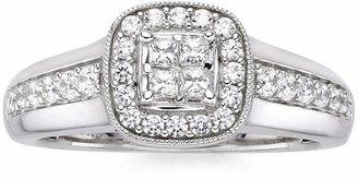 MODERN BRIDE I Said Yes 1/2 CT. T.W. Diamond & Lab-Created Blue Sapphire Milgrain Ring