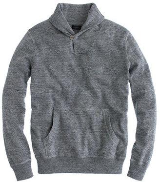 J.Crew Rugged cotton shawl-collar sweater in slate