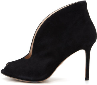 PeepToe VC Signature Ronan Suede Peep-Toe Shoe Bootie, Black