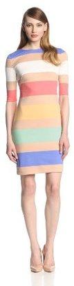 Jessica Simpson Women's Elbow Sleeve Stripe Dress