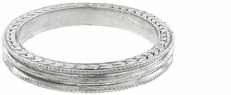 Cathy Waterman Triple Milgrain Ring - Platinum
