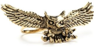 """Han Cholo Shadow Series"""" Gold Plated Brass Knight Stalker Owl Ring"""