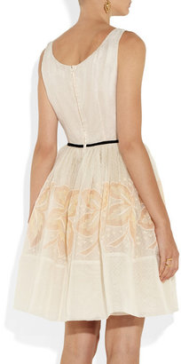 RED Valentino Embroidered silk dress